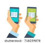 concept of online learning and... | Shutterstock .eps vector #718259878