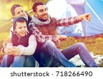 travel  tourism and hike... | Shutterstock . vector #718266490