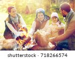 travel  tourism  hike and... | Shutterstock . vector #718266574