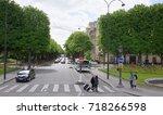 paris  france  may 01  2017 ... | Shutterstock . vector #718266598