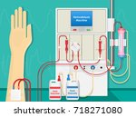 hemodialysis machine equipment... | Shutterstock .eps vector #718271080