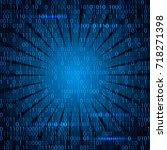 modern technology concept hex... | Shutterstock .eps vector #718271398