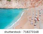 colorful hot summer landscape...   Shutterstock . vector #718273168