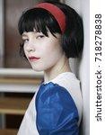 snow white cute girl   Shutterstock . vector #718278838