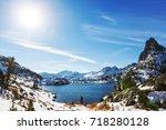 hike to beautiful  minaret lake ...   Shutterstock . vector #718280128