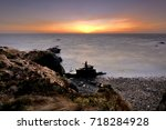 stranded on the beach   vila...   Shutterstock . vector #718284928