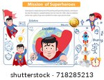 mission of superheroes. bitcoin ... | Shutterstock .eps vector #718285213