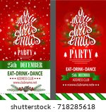 Captivating Winter Holiday Club · Merry Christmas Party Invitation,design Template ,flyer,ticket Set.Vector. Pertaining To Christmas Party Ticket Template Free