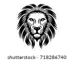 lion vector illustration  | Shutterstock .eps vector #718286740