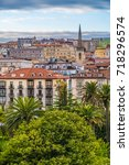 the port city of santander ... | Shutterstock . vector #718296574