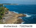 the port city of santander ... | Shutterstock . vector #718296658