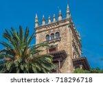 the port city of santander ... | Shutterstock . vector #718296718
