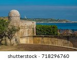 the port city of santander ... | Shutterstock . vector #718296760