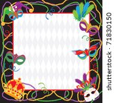 colorful mardi gras party... | Shutterstock .eps vector #71830150