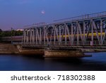train is passing through... | Shutterstock . vector #718302388
