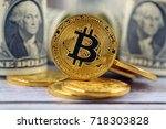 physical version of bitcoin ... | Shutterstock . vector #718303828