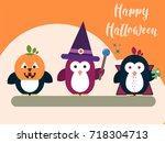 vector halloween card template...   Shutterstock .eps vector #718304713