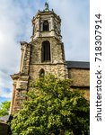 notre dame en saint melaine... | Shutterstock . vector #718307914