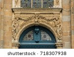 notre dame en saint melaine... | Shutterstock . vector #718307938