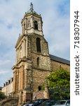 notre dame en saint melaine... | Shutterstock . vector #718307944
