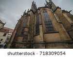 st. vita s cathedral details in ... | Shutterstock . vector #718309054