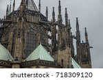 st. vita s cathedral details in ... | Shutterstock . vector #718309120