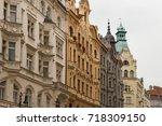 prague architecture  beautiful... | Shutterstock . vector #718309150