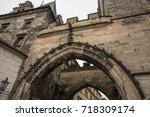 little quarter bridge tower is... | Shutterstock . vector #718309174