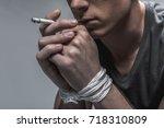 social advertisement about... | Shutterstock . vector #718310809