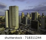the downtown district of ... | Shutterstock . vector #718311244