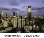 the downtown district of ... | Shutterstock . vector #718311250