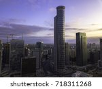 the downtown district of ... | Shutterstock . vector #718311268