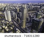 the downtown district of ... | Shutterstock . vector #718311280