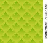 green maple leaves seamless... | Shutterstock .eps vector #718314520