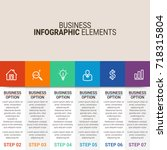 modern infographic choice... | Shutterstock .eps vector #718315804