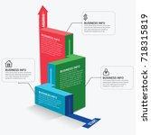 modern infographic choice... | Shutterstock .eps vector #718315819