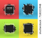 grunge backgrounds collection.... | Shutterstock .eps vector #718321948