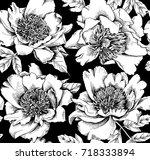 seamless floral pattern.... | Shutterstock .eps vector #718333894