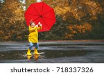 happy child girl with an... | Shutterstock . vector #718337326