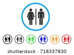 wc persons rounded icon. style... | Shutterstock .eps vector #718337830