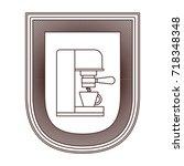 logo badge decorative of coffee ... | Shutterstock .eps vector #718348348