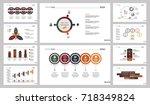 ten training charts slide... | Shutterstock .eps vector #718349824
