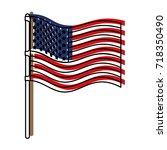 flag united states of america... | Shutterstock .eps vector #718350490