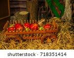 village | Shutterstock . vector #718351414