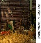 village | Shutterstock . vector #718351420