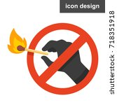 stop fire icon | Shutterstock .eps vector #718351918