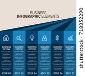infographic elements template | Shutterstock .eps vector #718352290