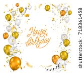 color holiday white  gold and... | Shutterstock .eps vector #718361458
