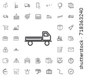 delivery  truck line icon... | Shutterstock .eps vector #718363240