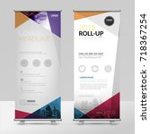 business roll up design... | Shutterstock .eps vector #718367254